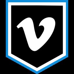 logo, media, social, vimeo icon