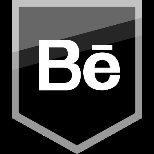 behance, logo, media, social icon