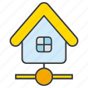 connect, home, house, network icon
