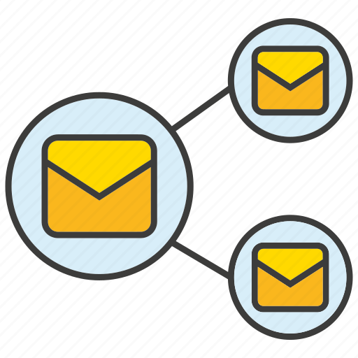 connect, email, letter, link, share icon