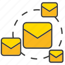 communicate, email, letter, send icon