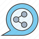 bubble, connect, share icon