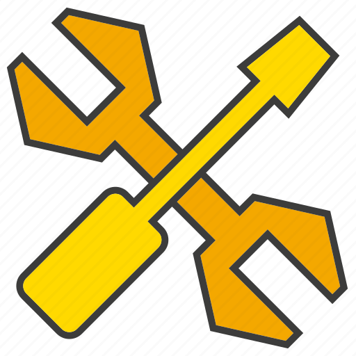 fix, repair, screwdriver, tools, wrench icon