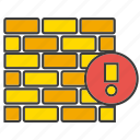 alert, ban, caution, exclamation, firewall, virus, warning icon