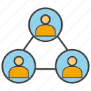 connect, link, network, people icon