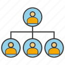 chart, diagram, organization chart, people icon