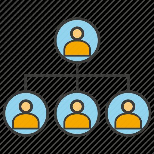 chart, diagram, organization chart, people icon