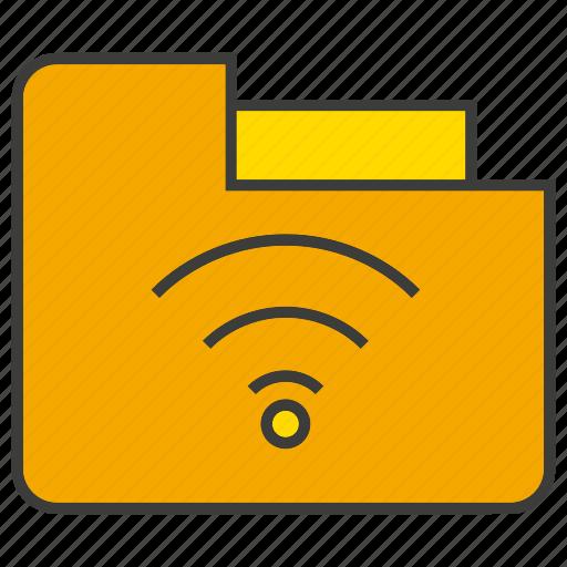data, file, folder, internet, wifi icon