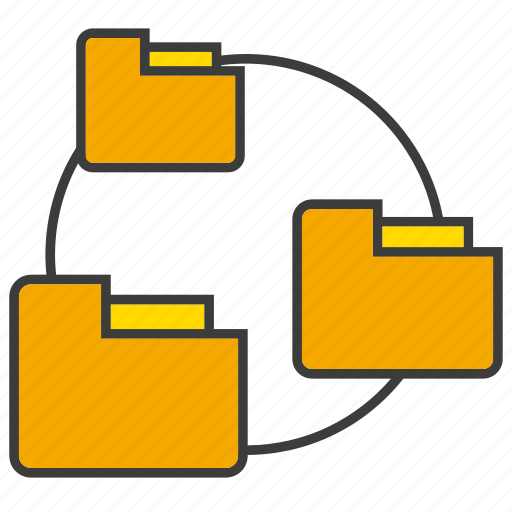 connect, file, folder icon