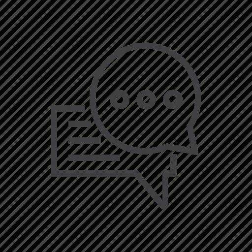 bubble, chat, communication, forum icon