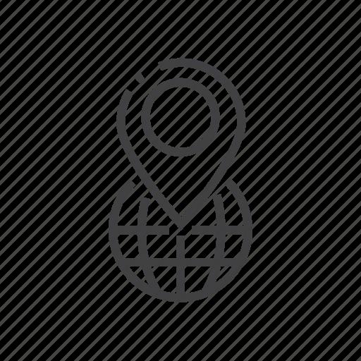 gps, location, marker, pointer icon