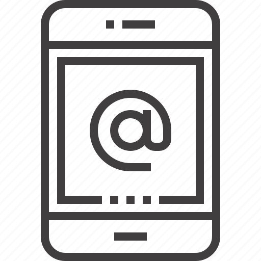 address, communication, contact, device, email, message, tablet icon