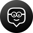 black white, edmodo, education, gradient, long shadow, social, social media icon