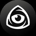 iconfinder, black white, eye, icon market, iconfinder logo