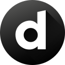 black white, circle, dailymotion, high quality, long shadow, social, social media icon