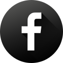 black white, circle, facebook, high quality, long shadow, social, social media icon