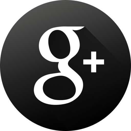 black white, circle, g, high quality, long shadow, social, social media icon