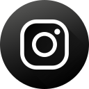 black white, circle, high quality, instagram, long shadow, social, social media icon