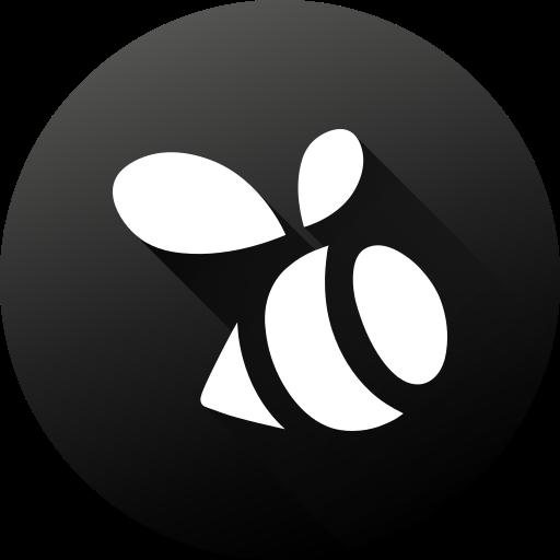 black white, circle, high quality, long shadow, social, social media, swarm icon