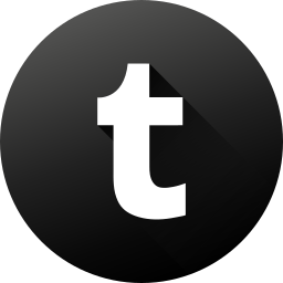 black white, circle, high quality, long shadow, social, social media, tumblr icon