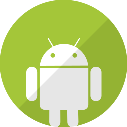 android, green, mobile, phone, telephone icon