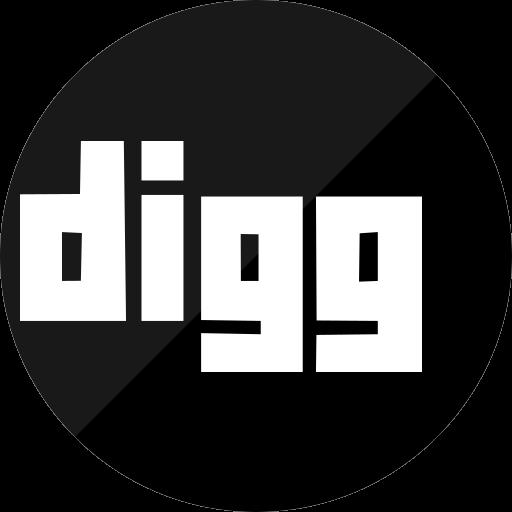 dig, digg, media, network, social icon