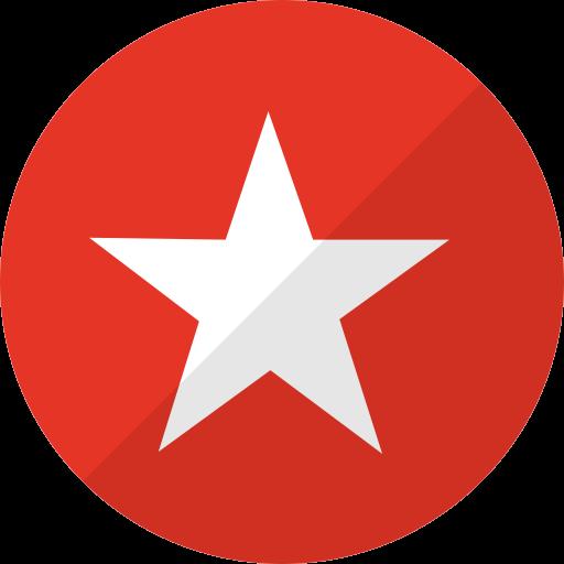 media, nation, network, reverbnation, social, star icon