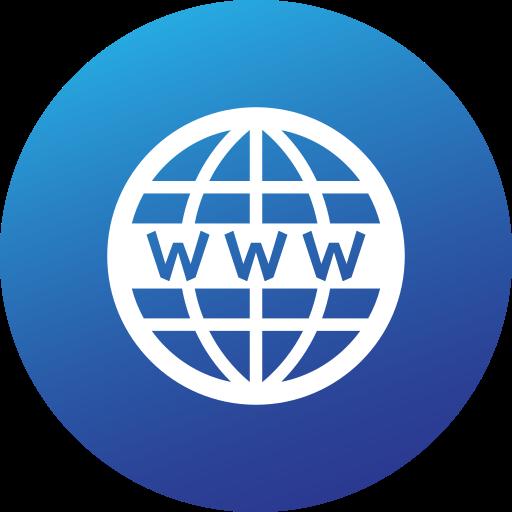 circle, gradient, high quality, social, social media, website, www icon