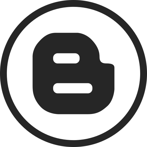 blogger, blogspot, circle, high quality, media, social, social media icon