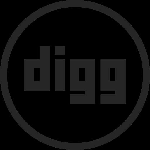 circle, digg, high quality, media, social, social media icon