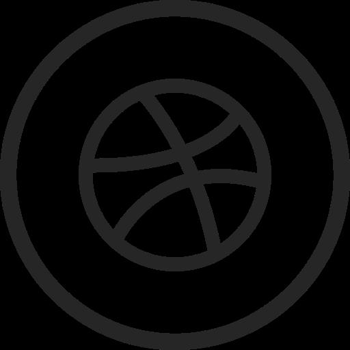 circle, dribbble, high quality, media, social, social media icon