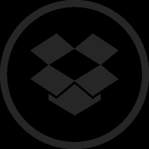 circle, dropbox, high quality, media, social, social media, storage icon