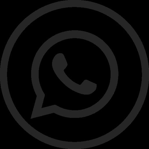 circle, high quality, media, message, social, social media, whatsapp icon