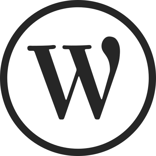 circle, high quality, media, social, social media, web, wordpress icon