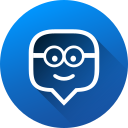 edmodo, education, gradient, long shadow, media, social, social media icon