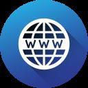 circle, gradient, long shadow, social, social media, website, www icon