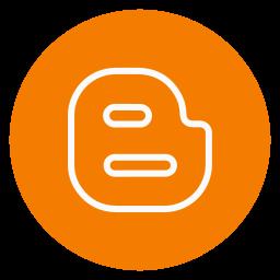 blogger, circle, outline, social-media icon
