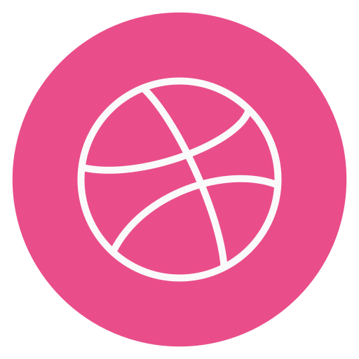 circle, dribble, outline, social-media icon
