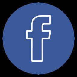 circle, facebook, outline, social-media icon