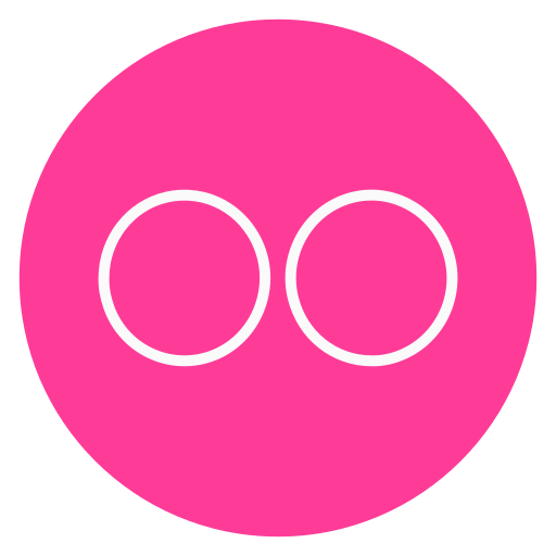 circle, flickr, outline, social-media icon