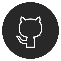 circle, github, outline, social-media icon
