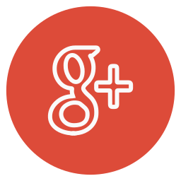 circle, google, outline, plus, social-media icon