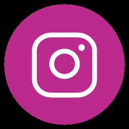 circle, instagram, outline, social-media icon