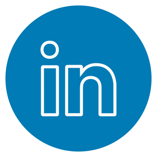 circle, in, linked, outline, social-media icon