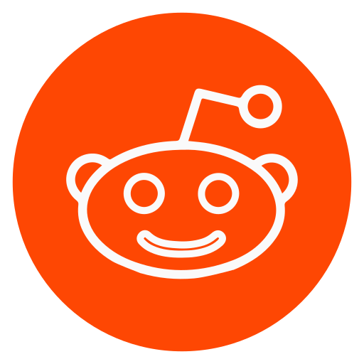 circle, outline, reddit, social-media icon
