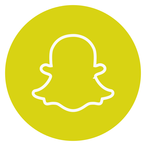 circle, outline, snapchat, social-media icon