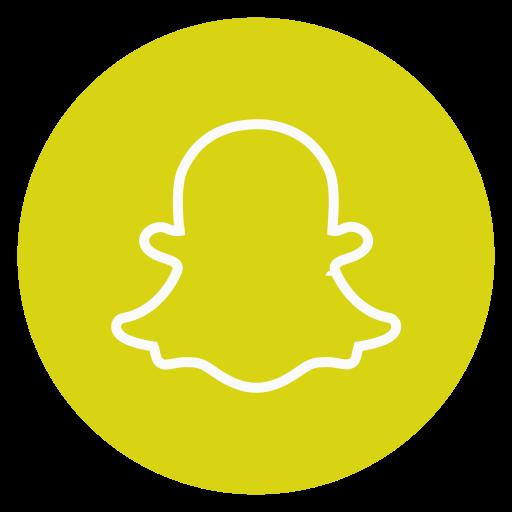 circle, outline, snapchat, social-media icon