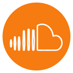 circle, outline, social-media, soundcloud icon