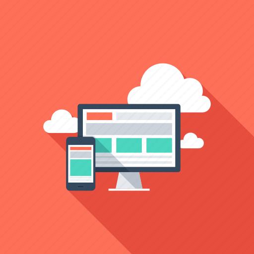 adaptive, cloud, computer, media, seo, social, web icon