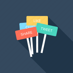 billboard, board, media, message, online, social, web icon